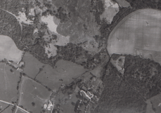 Aerial photograph of the trench system in 1946.