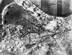 Aerial photograph of practice trench system, Nov 1918. Copyright Imperial War Museum