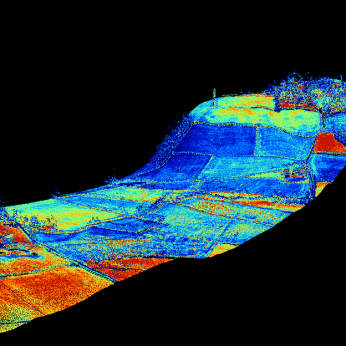 3D elevation of a LiDAR datastrip